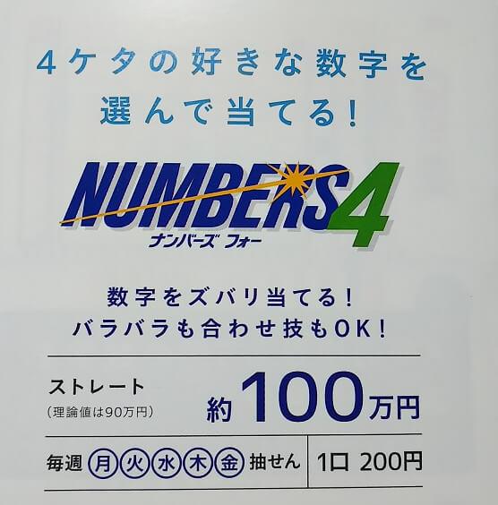 番号 の 当選 ナンバーズ 4 過去